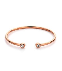 Ducett Diamond bangle| rosé goud