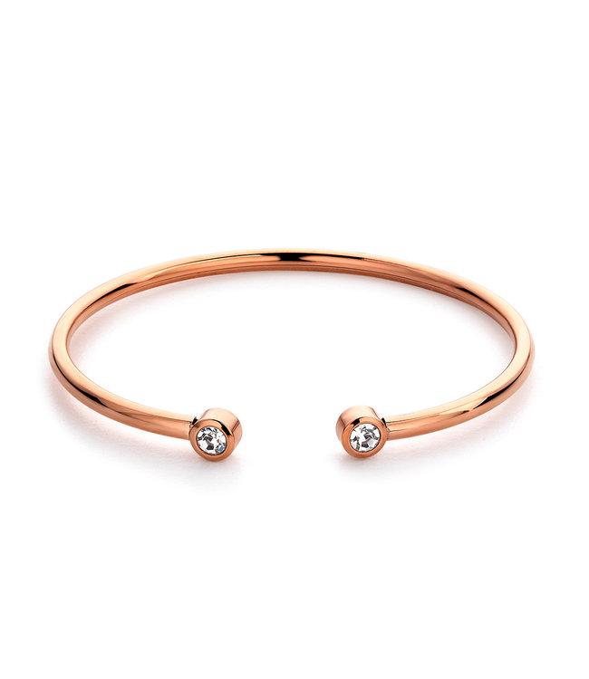Diamond bangle| rosé goud