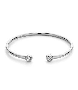 Diamond bangle| Silver