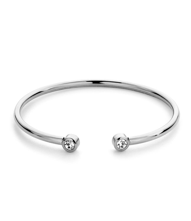 Diamond bangle| Silver