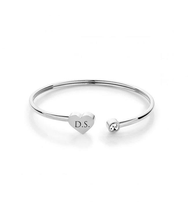 Armband heart | Zilver