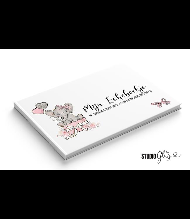 Glitz4kids Mijn eerste fotoboekje echoboekje| Olifant roze
