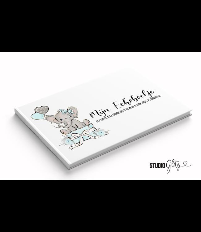 Glitz4kids Mijn eerste fotoboekje echoboekje| Olifant blauw