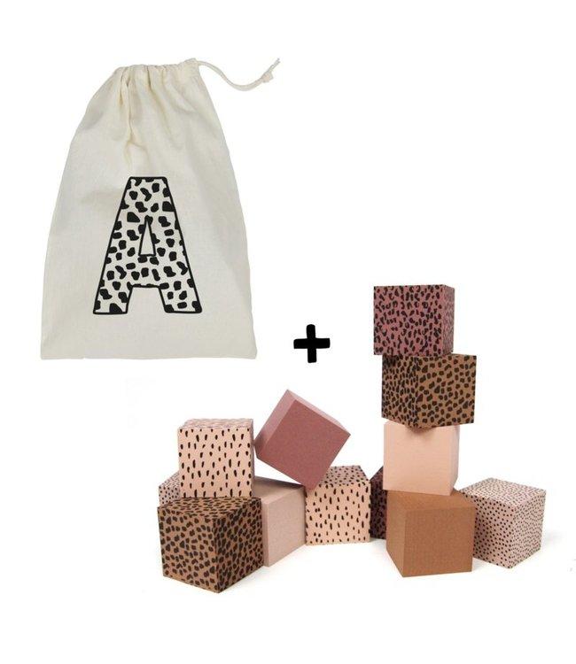 Foam Blokken + Bewaar Zak met Voorletter | ROZE