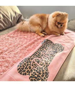 Honden deken | Blush leopard