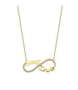 glitz4kids Sprankelende infinity ketting goud