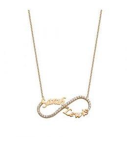 Ducett Sprankelende infinity ketting rosé goud