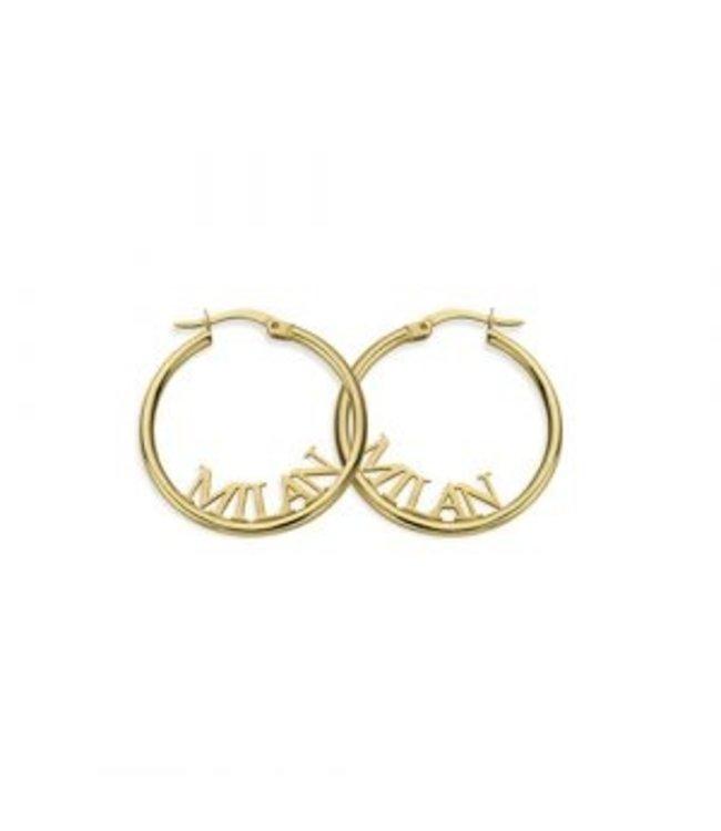 Signature Earring goud