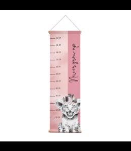 Glitz4kids Groeimeter | Leeuw roze