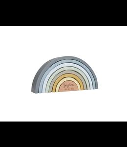 glitz4kids Little Dutch Regenboog blauw | Met naamoptie