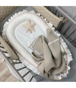 Glitz4kids Baby nestje wit met beige