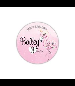glitz4kids Verjaardags raamsticker | Flamingo