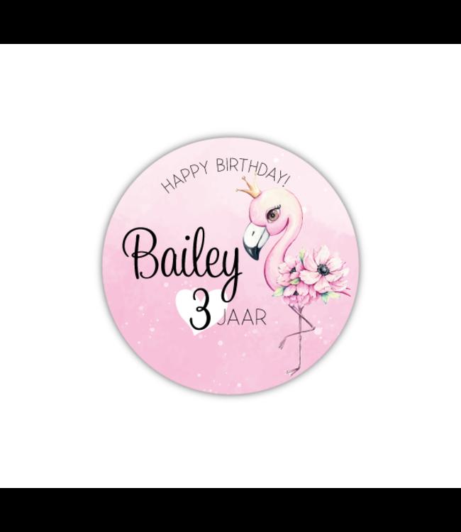 glitz4kids Verjaardags raamsticker   Flamingo