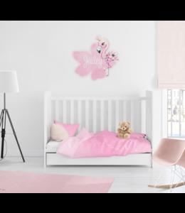 Muursticker  met naam | Flamingo