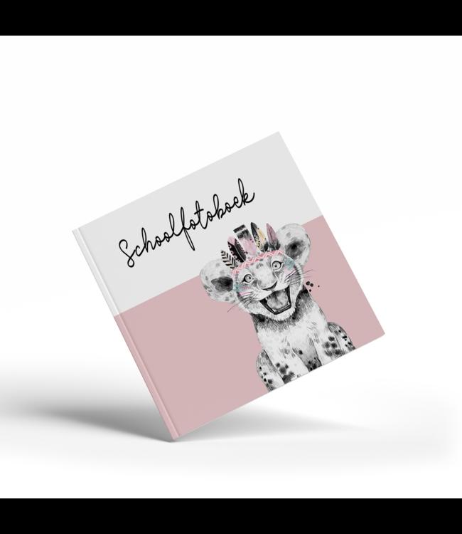 Glitz4kids Schoolfotoboek | Lion pink