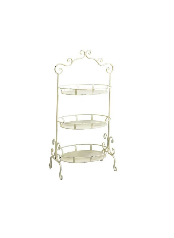 Grosse Etagere im Shabby Chic in Antikweiss