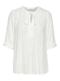 Cream Clothing Bluse | Vera 3/4 sleeve blouse | Chalk
