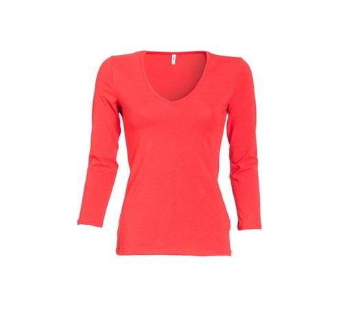 Blutsgeschwister Shirt | logo v-neck 3/4 sleeve | candy cone