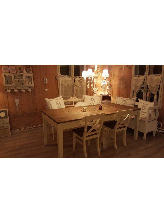 Landhaus Tisch Camargue 1 Schublade