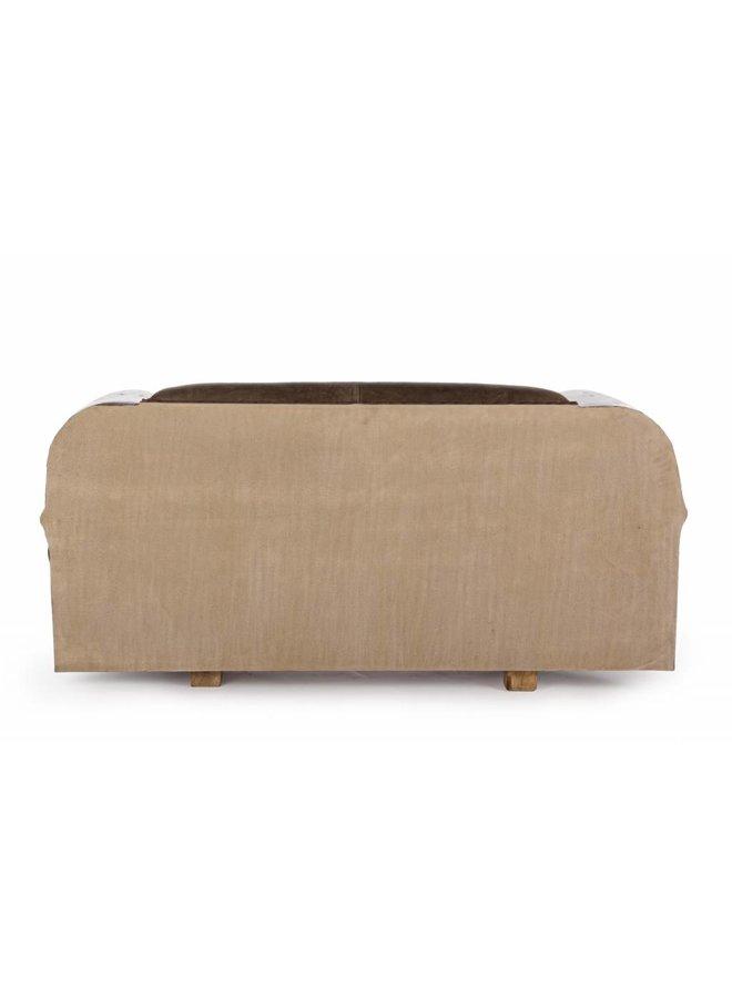 Sofa aus Autofront mit Leder | braun