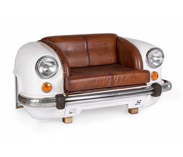 Sofa   Autofront   Leder   weiss