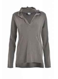 DEHA Hodded Sweater | Kashmir | stone