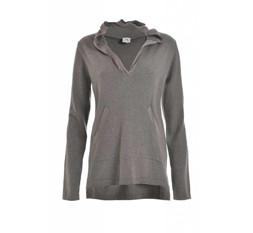 Hodded Sweater | Kashmir | stone