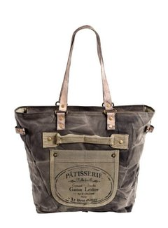 Handtasche Gross | Shopper | Print | Canvas | Leder