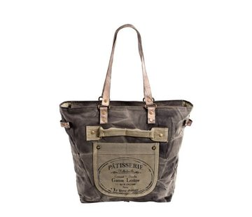 Handtasche Gross | Shopper | Print | Canvas | Leder