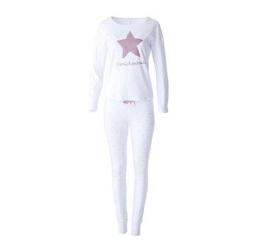 Louis & Louisa Pyjama Oversize   Sternchenzauber   Weiss
