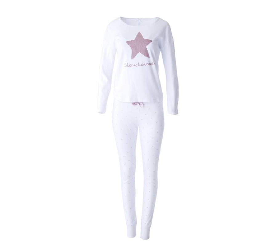 Pyjama Oversize | Sternchenzauber | Weiss