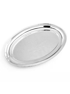 Deko Tablett | Oval | Gravur | Silberfarben