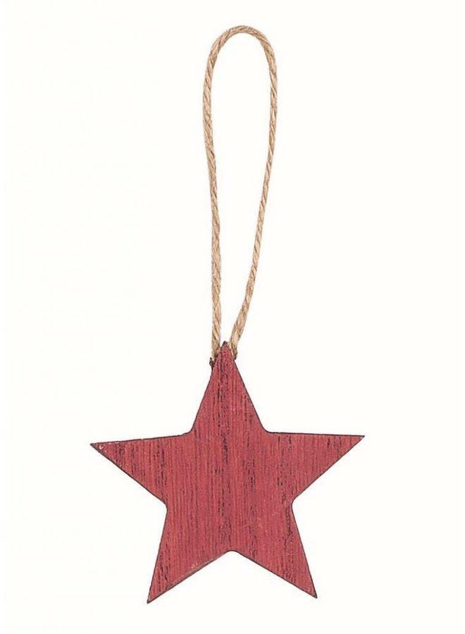 Dekoanhänger | Stern | Holz | Rot