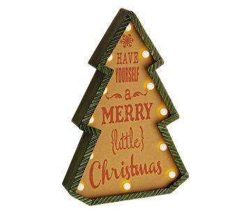 Weihnachtsdeko   Retro Tanne   beleuchtet