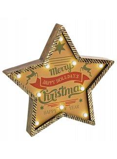 Weihnachtsdeko | Retro Stern | beleuchtet