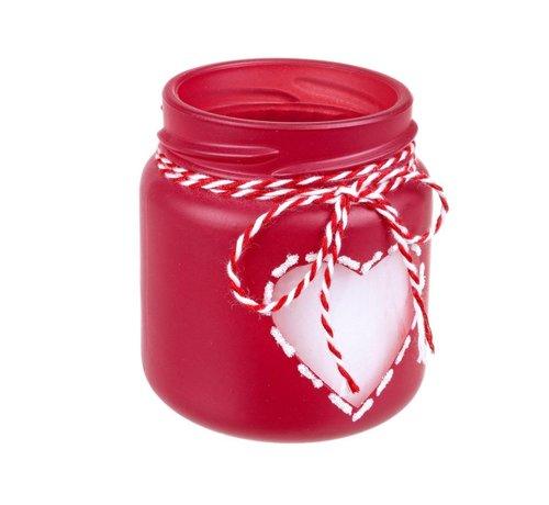 Teelicht   Vanille Duftkerze   Herz   Rot