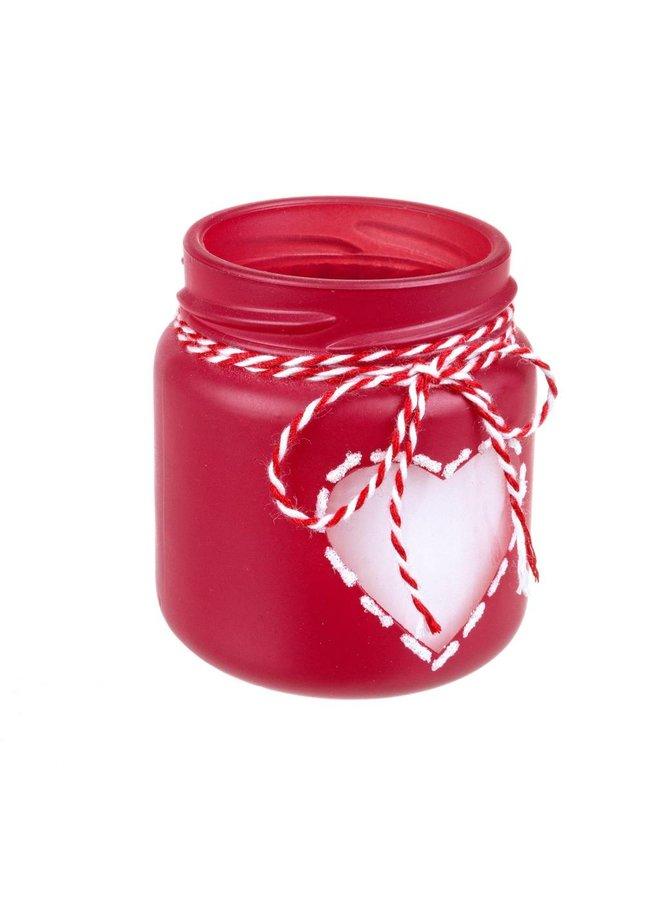 Teelicht | Vanille Duftkerze | Herz | Rot