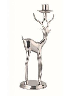 Kerzenhalter | Hirsch in Silber | Rechts