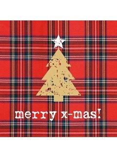 Weihnachts Servietten | Tartan Tree | 100% Tissue