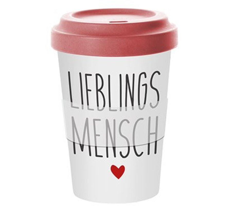 To go Becher | Lieblingsmensch | red Bamboo
