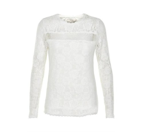 Cream Clothing Bluse | Sille Ls Blouse | Chalk