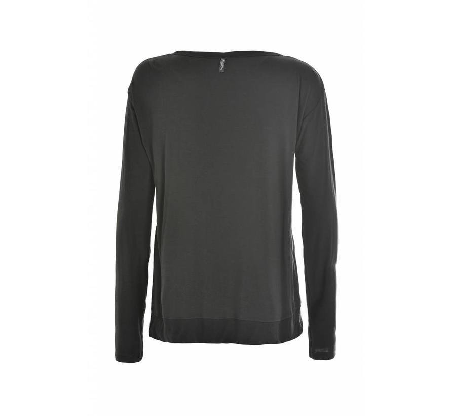 Shirt | Long Sleeve T-Shirt | Caviar Grey