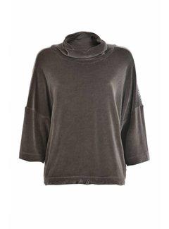 DEHA Sweatshirt   Chenille Crop   Niki Plüsch  Caviar grey