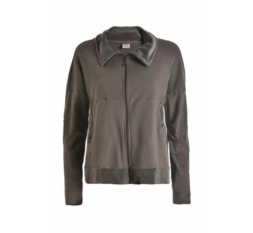 DEHA Freizeitjacke | Full Zip Sweatshirt | Cinder Grey