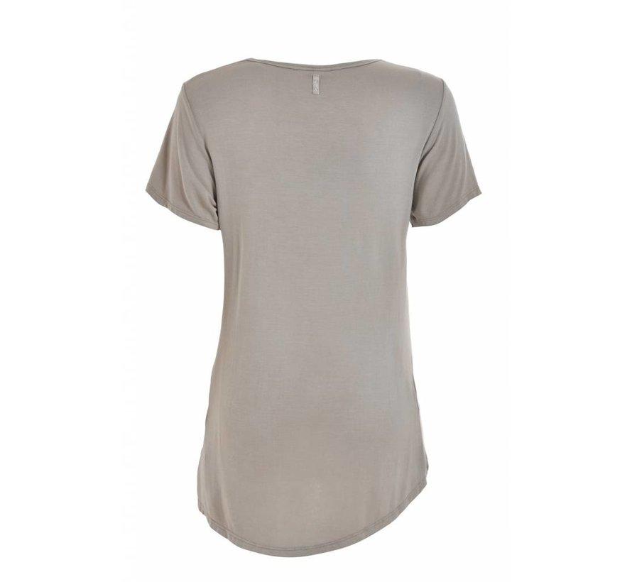 Shirt | V Neck T-Shirt | Sand