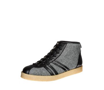 Zeha Berlin Trainer | Trainer High | Tweed, Leeds black, offwhite