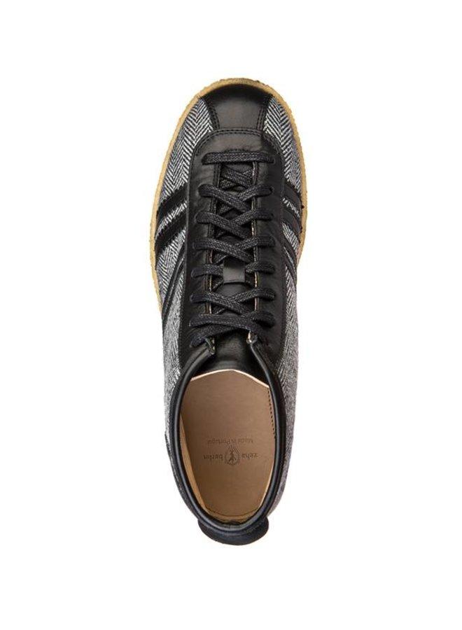 Trainer High in Tweed, Leeds black, offwhite