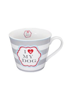 Krasilnikoff Tasse | I love my Dog