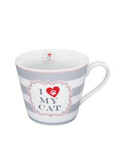 Krasilnikoff Tasse | Happy Cup | I love my Cat