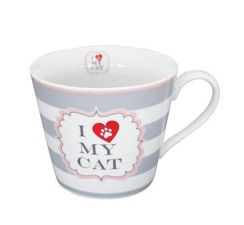 Krasilnikoff Tasse | Happy Cup | I love my Cat